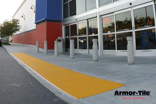 Armor-Tile installed in front of BestBuy | Engineered Plastics